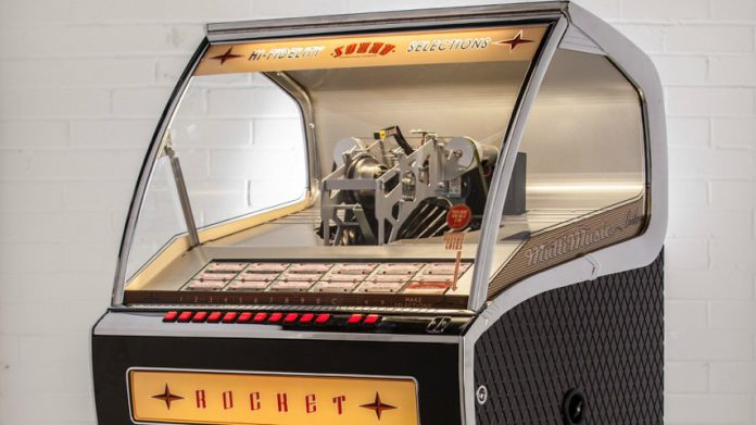 Coinslot Sound Leisure vinyl rocket jukebox