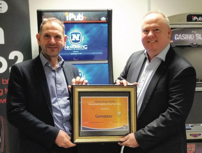 Coinslot Supplier Award Gamestec