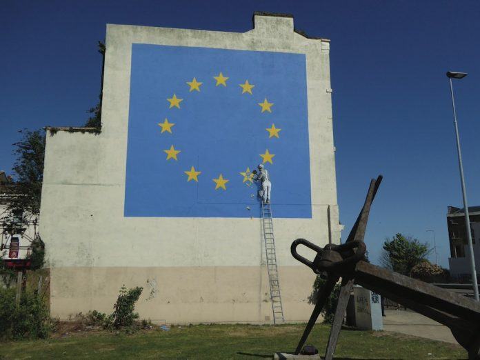 Coinslot - Banksy Brexit Art Goddens