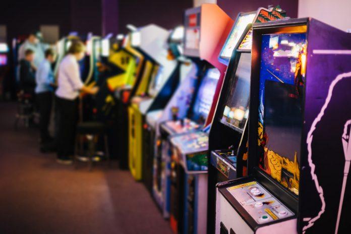 Coinslot video game arcade