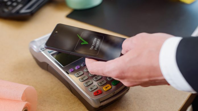 Cashless payment phone