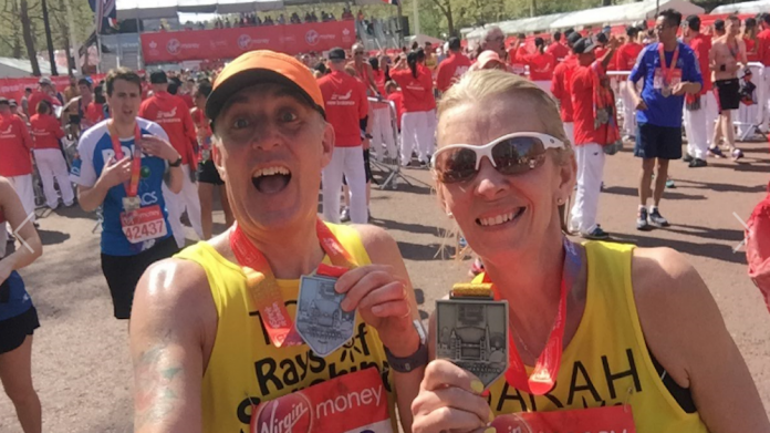 Glanville couple marathon
