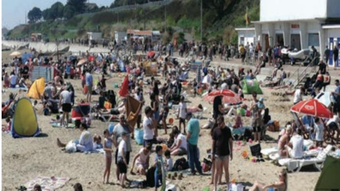 Beach busy