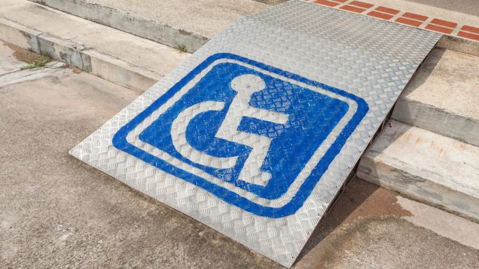 Disability ramp sign