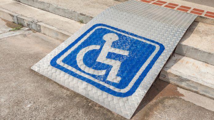 Disability ramp sign