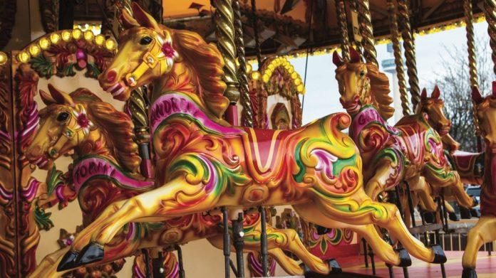 Pleasure Island, Cleethorpes, carousel,
