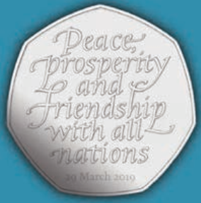 New 50 pence piece