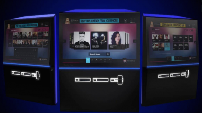 TouchTunes, jukeboxes, V-Hub rate, angelina