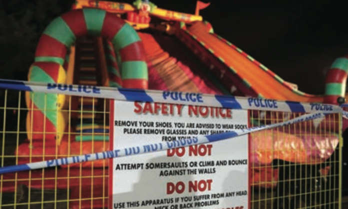 inflatables, accidents, woking park,