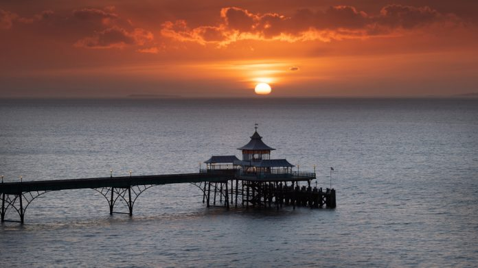 Clevedon Pier celebrates entertainment bank holiday