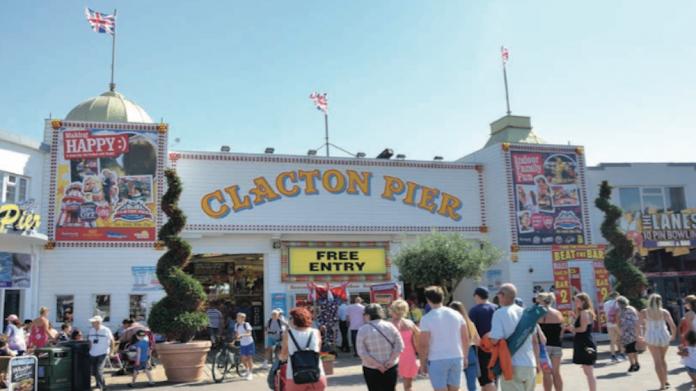 Clacton Pier, AGC, doubles, size, amusements