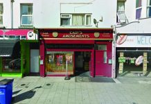Cain's Amusements arcade front
