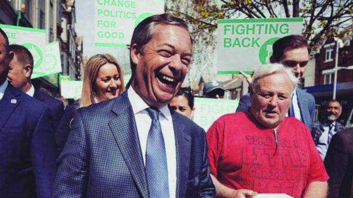 Nigel Farage Clacton Pier visit