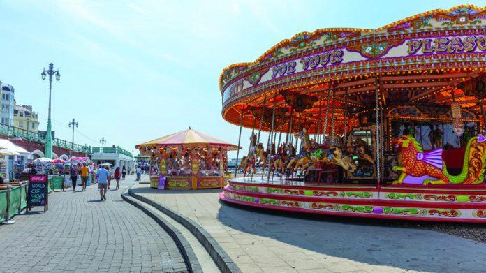 Brighton Seafront traders sunshine boost