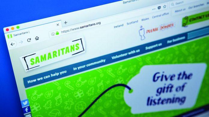 Flutter charity Samaritans partnership