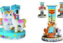 SB Machines Unicorn Carousel Kangaroo lifting carousel