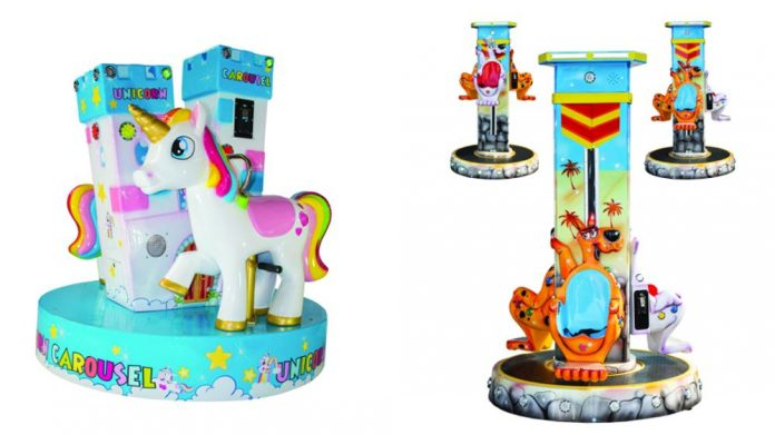SB Machines Unicorn Carousel Kangaroo lifting carousel