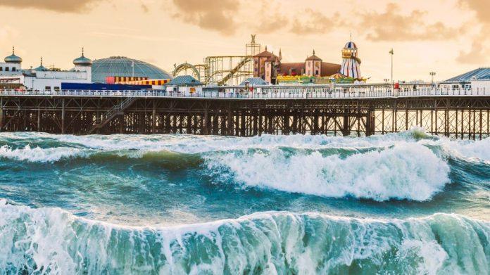 Pier Rough Waves climate change