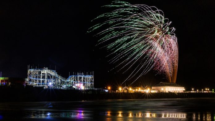 clacton pier halloween fireworks