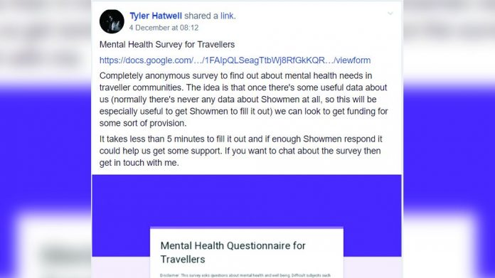 Showmen mental health survey