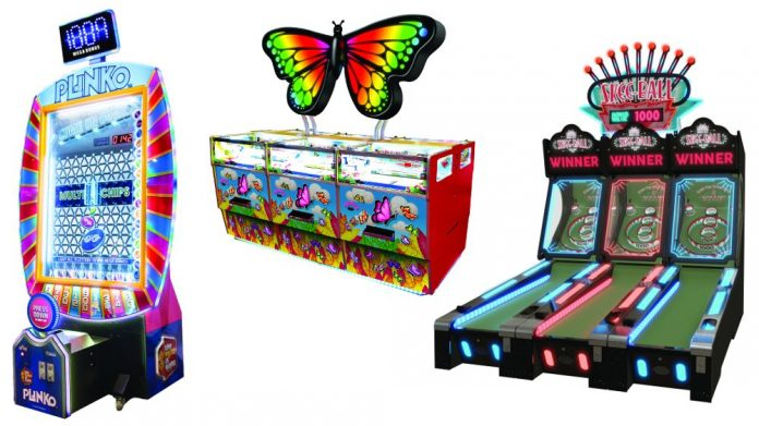 Harry Levy EAG Plinko Butterfly Skee Ball