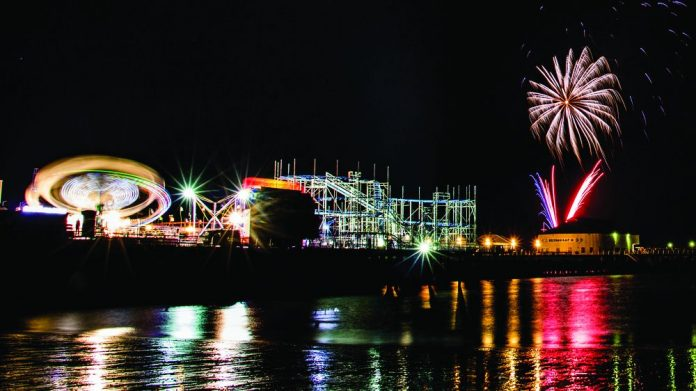 Clacton pier Fireworks