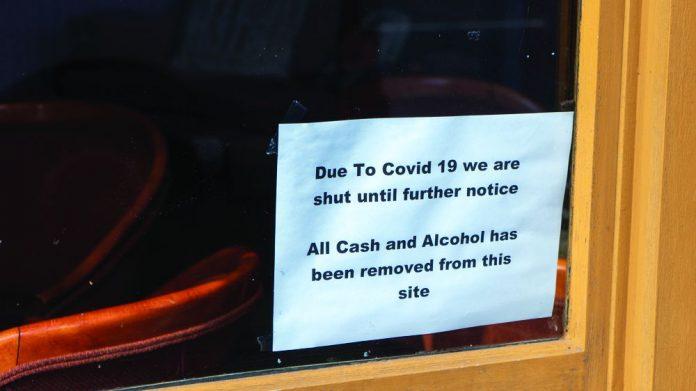 Covid-19 closed pub sign lobbying grants