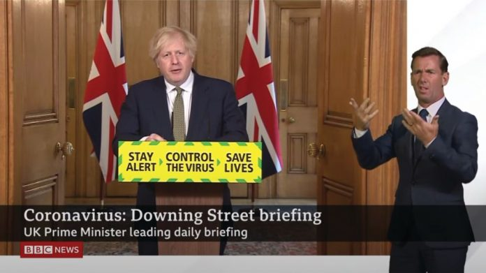 Boris Johnson briefing AGCs reopen