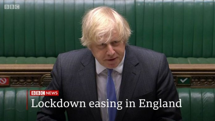 Boris Johnson Lockdown easing BBC News AGCs FECs re-open arcades