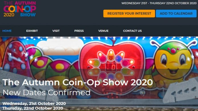 Autumn Coin-Op show ACOS EAG Expo Swan Events