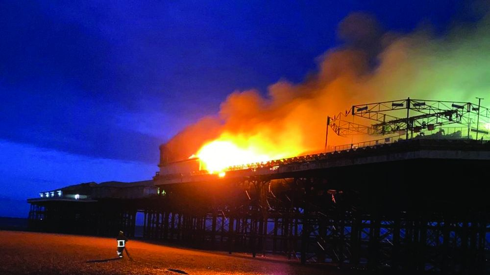 Blackpool Central Pier fire