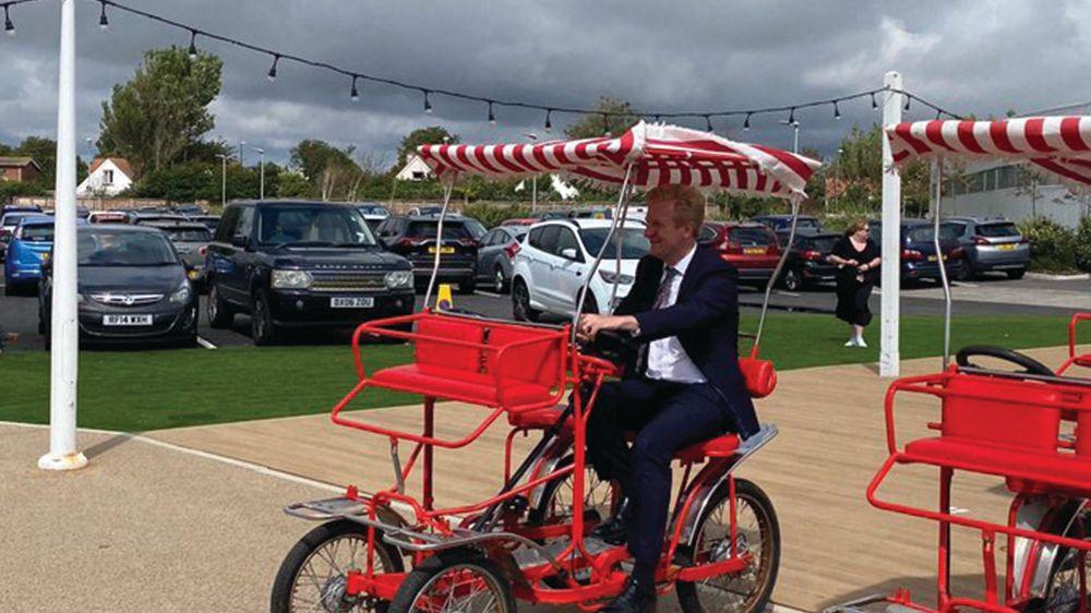 Oliver Dowden MP Butlins visit