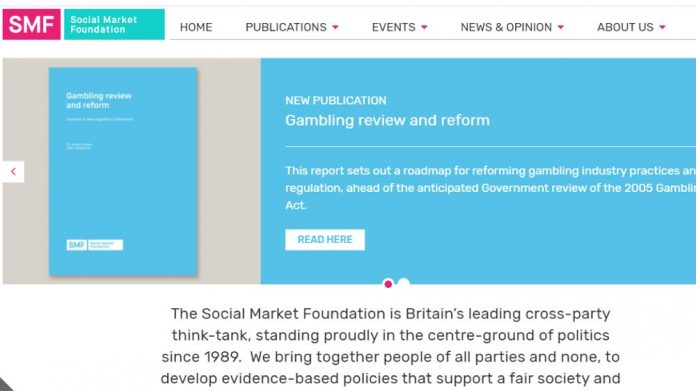 Social Market Foundation gambling reform think tank