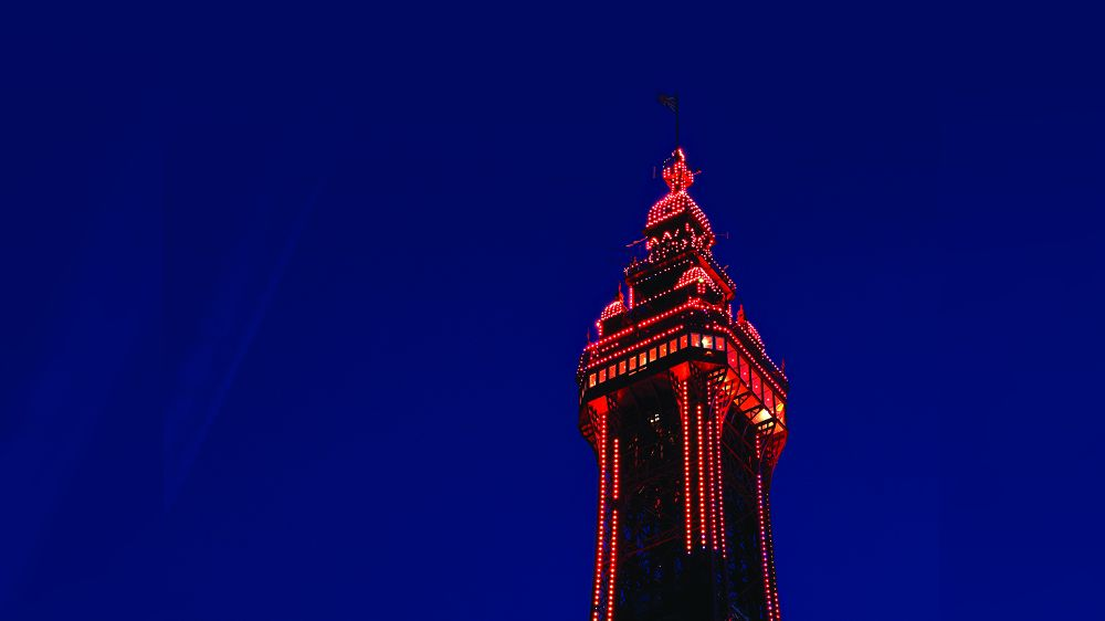 Blackpool Tower light projections
