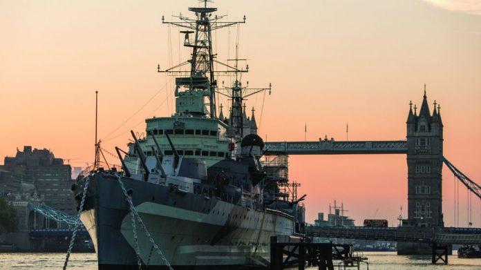 Southend Pier decommissioned HMS Belfast