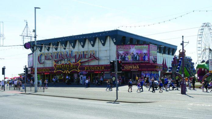 Blackpool Central Pier street locked down