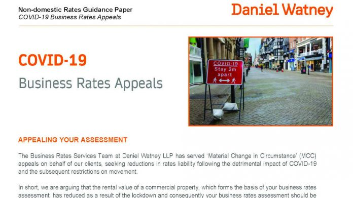 Business rate appeals