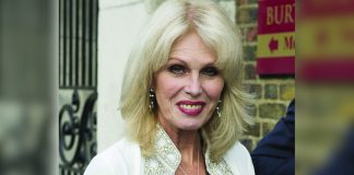 Joanna Lumley visited Coles Funfair new TV Series