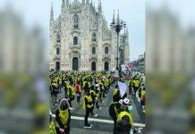 Milan operators protest