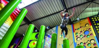Skegness Pier Clip 'n Climb attraction