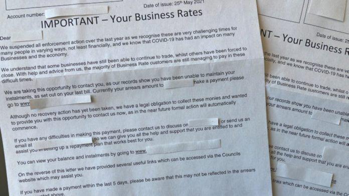 Business Rates bills UKHospitality