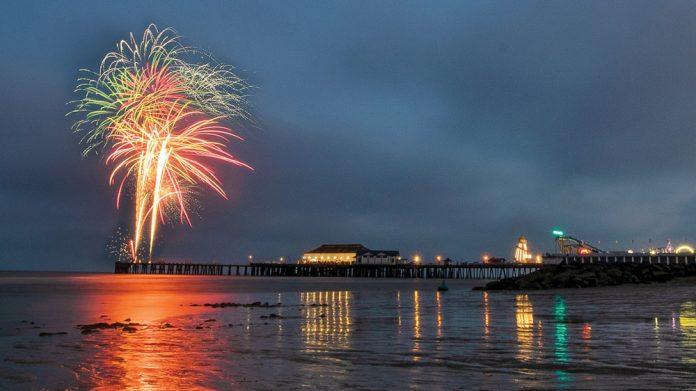 Clacton Pier lit up as seaside shines