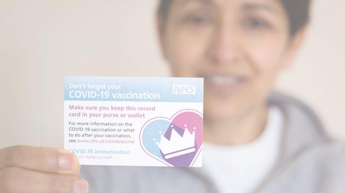 Covid Vaccine passport card