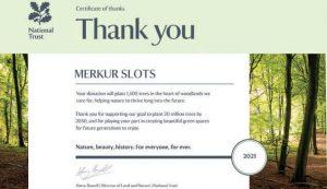 Merkur Slots thank you