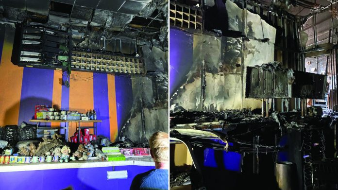 Regent Bingo Hall fire damage Spalding