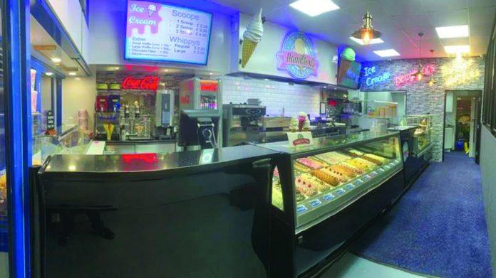 Hamilton's Ice Cream Parlour Southend refurbishment relocation