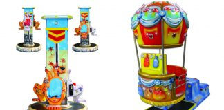 SB Machines Hot Air Balloon Kangaroo Up and Down Carousel Paolo Sidoli