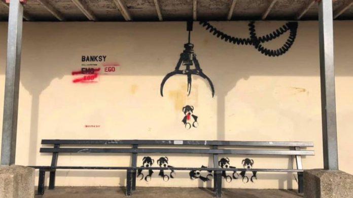 Banksy art Great British Spraycation