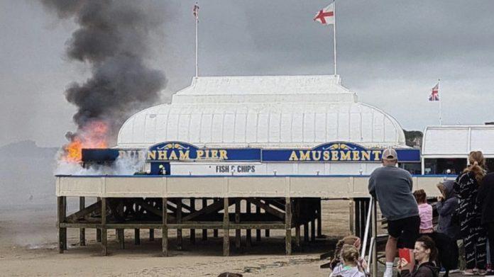 Burnham on sea Pier reopens after blaze