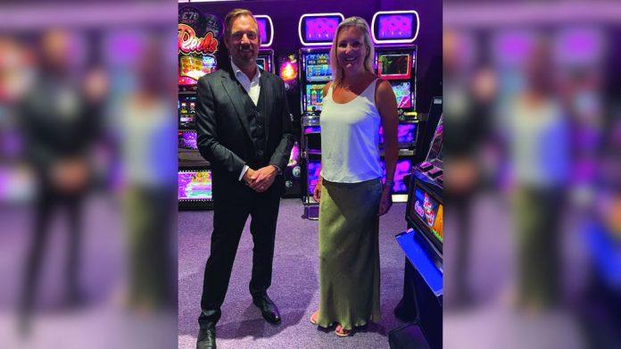 Neil Finch Caroline Dinenage MP Game Nation visit